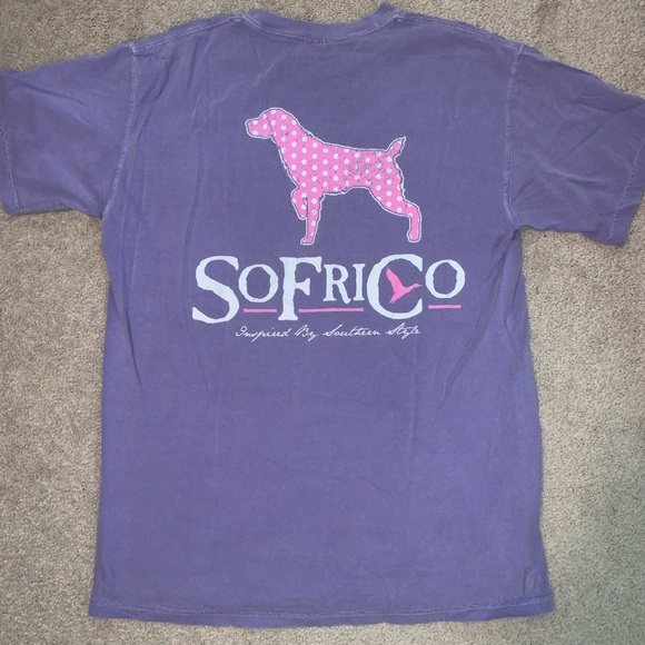 Southern Fried Cotton Tops - Light purple t-shirt